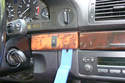 Also, carefully lever off the wood trim on the right side of the steering column.