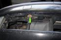 Locate bumper bolt access holes at bottom of bumper.