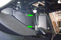 If you need more access to the center of the dash you can remove the side trim panel.