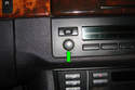 Remove the volume control knob (green arrow) by pulling it straight out.