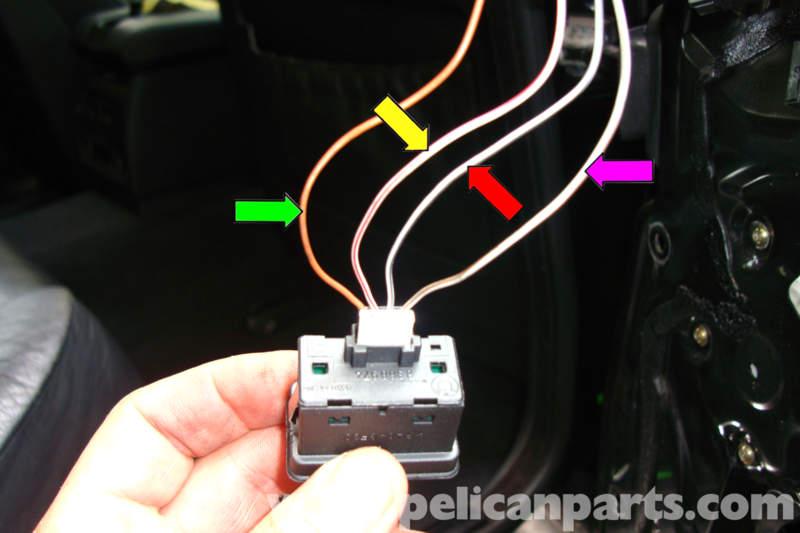 bmw e39 5 series power window testing 1997 2003 525i, 528i, 530i Window Switch Wiring 4 Pin
