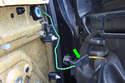 There is a door panel mounted speaker in the front of the upper part of the door.