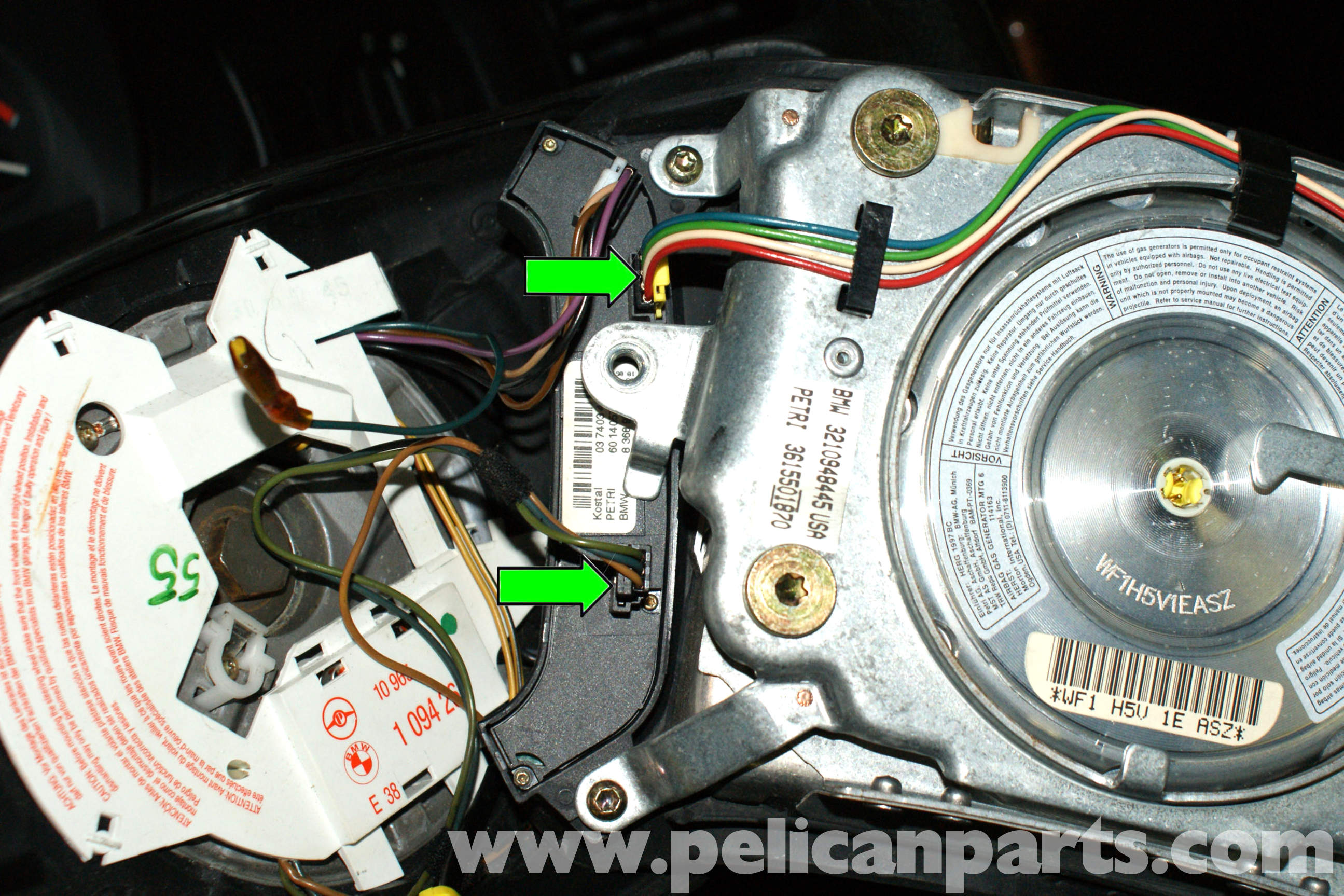 Bmw E39 5 Series Steering Wheel Removal 1997 2003 525i 528i 530i Find Wiring Diagram For Air Bag Large Image Extra