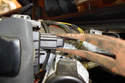 Here we are at the back of the steering column switch on the right side.