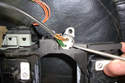 If you are replacing the switch push down on the locking tab for the slip ring horn wiring with a pick and push the connector away to remove it from the switch.