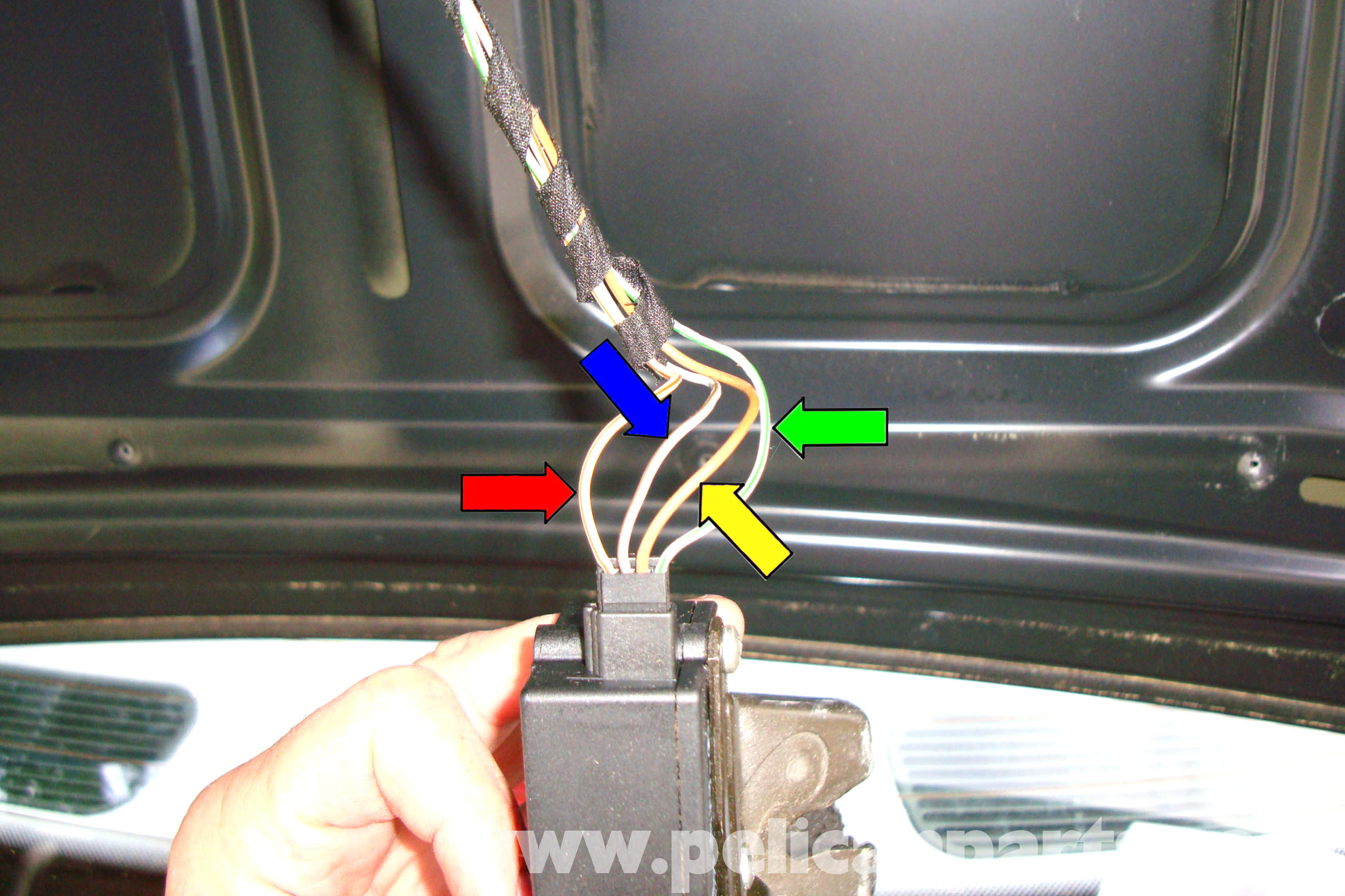bmw e39 5 series trunk latch testing and replacement 1997 2003 large image extra large image