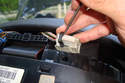 There are three connectors that need to be unplugged before you can pull the instrument cluster out of the way.