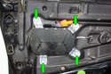 Remove the four 10mm bolts that hold down the side airbag and support the bag.