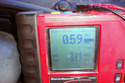With little residual pressure in the brake hydraulic system your meter should only read approximately 0.