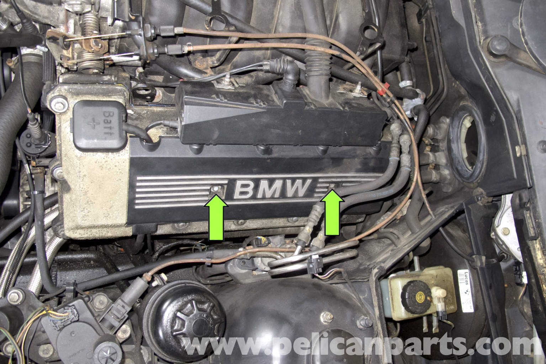 bmw e39 5 series engine cover removal 1997 2003 525i 528i. Black Bedroom Furniture Sets. Home Design Ideas