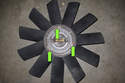 If replacing fan blades: Note position and direction of fan blades.