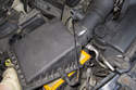 Remove the air filter housing lid from the mass air flow sensor.