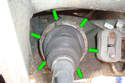 This photo illustrates the left side rear wheel well.