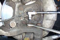 Avoid removing the ball joint shaft until you have the mounting nut removed as far as you can.