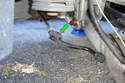 After removing the bracket from the swaybar bushing spread the bushing apart and remove from the sway bar.