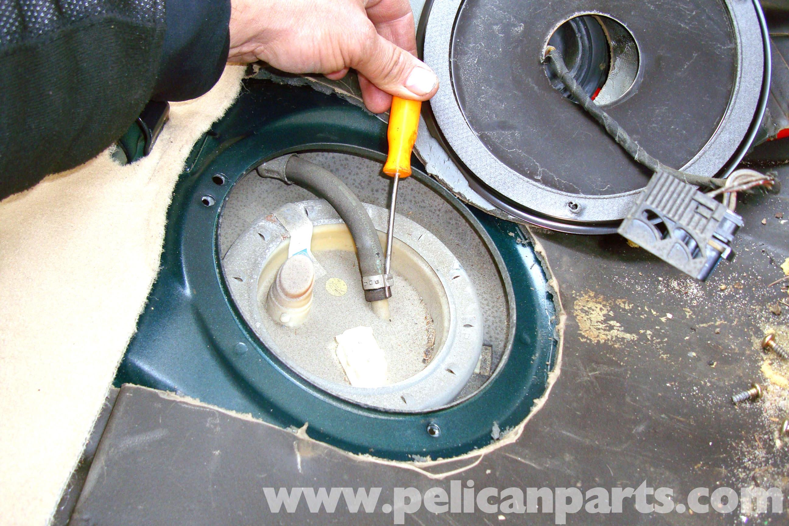 bmw e39 5 series fuel pump sender removal 1997 2003 525i. Black Bedroom Furniture Sets. Home Design Ideas