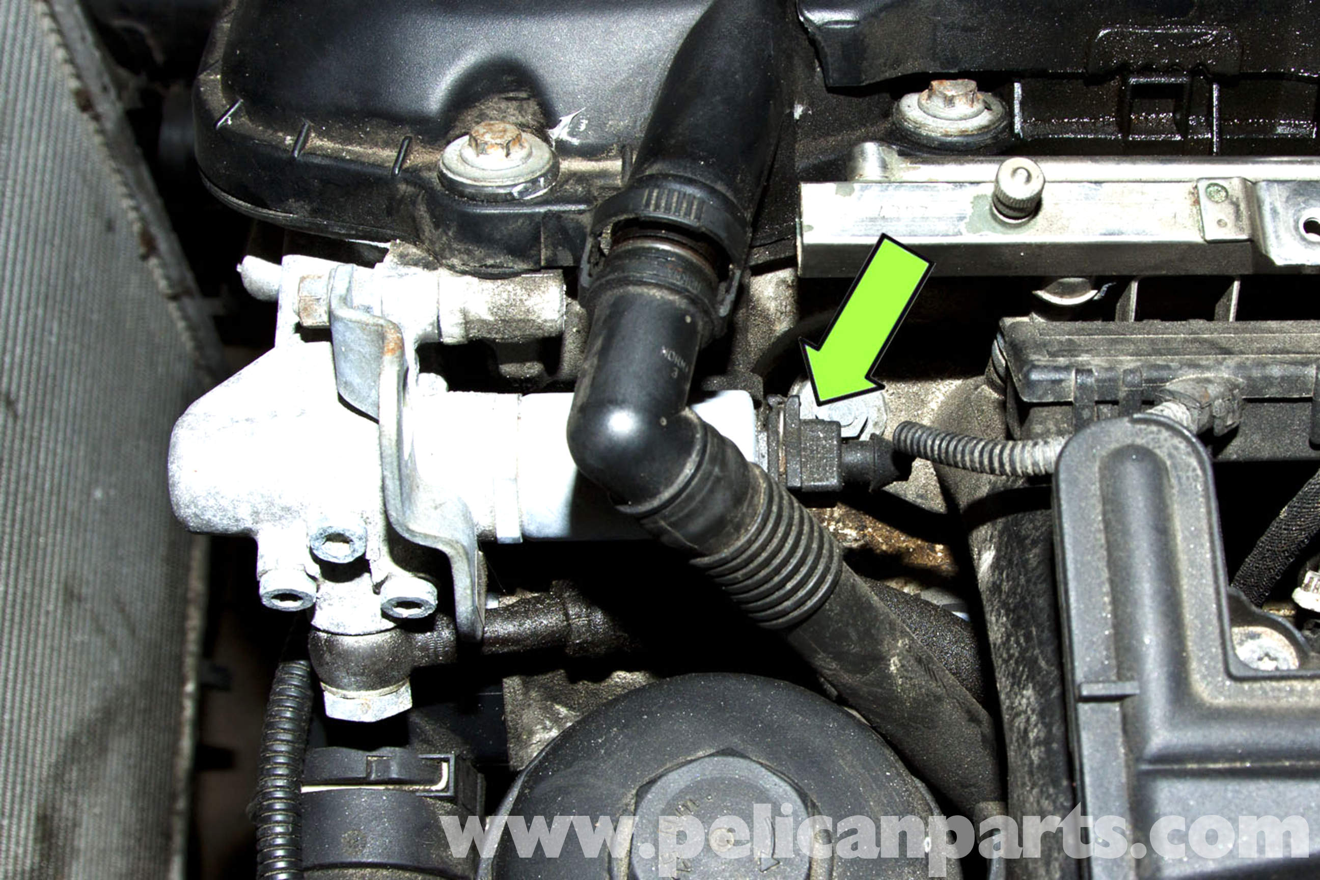 2000 Bmw 528i Engine Parts Location Diagram Trusted Wiring E39 Dsc 5 Series Camshaft Sensor Replacement 1997 2003 525i Rh Pelicanparts Com Motor Of E46 Heater Hoses On 328i