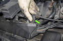 Then disconnect the electrical connector, it is located at the front of the wiring junction on the right side cylinder head.