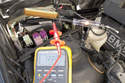 First I check that the trans ECU is getting good battery supply voltage.