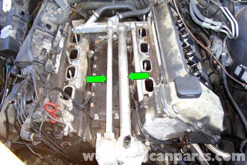 Bmw E39 5 Series Coolant Valley Pan Removal 1997 2003 525i 528i 530i 540i Pelican Parts