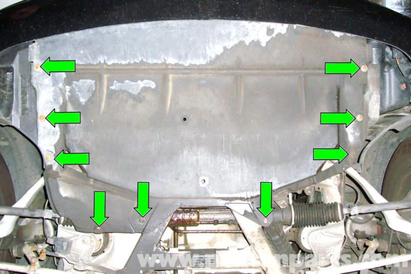Bmw E39 5 Series Engine Splash Shield Removal 1997 2003