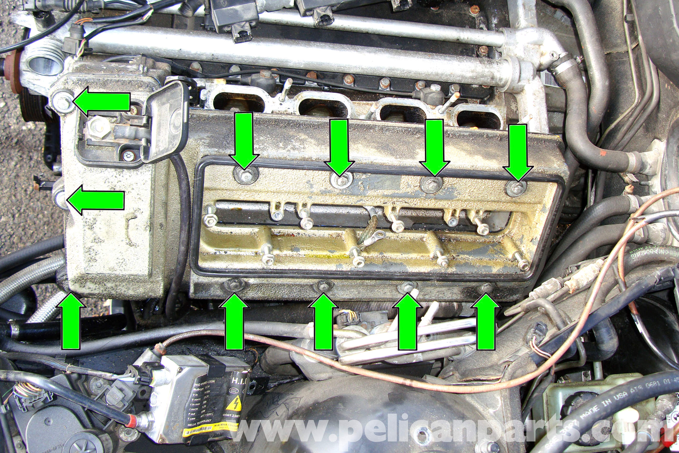 1994 Bmw 525i Spark Plugs From The To Motherboard Wiring Diagram E39 5 Series Cylinder Header Gasket Removal 1997 2003 Rh Pelicanparts Com