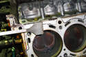 Clean the cylinder block mating surface.