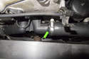 This photo shows a radiator hose that has a small leak when under pressure.