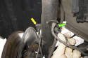 Remove sensor wiring harness from strut.