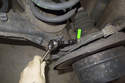 Working at wheel bearing carrier, remove ABS sensor 5mm Allen fastener.