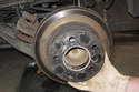 Slide the brake rotor off the hub.