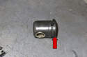 Once seal is installed, I install the spring clip (red arrow) onto the connecting joint as shown in photo.