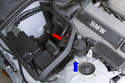 You can connect a battery charger directly to the battery or under the hood at the positive (+) and negative (-) grounding point junction.