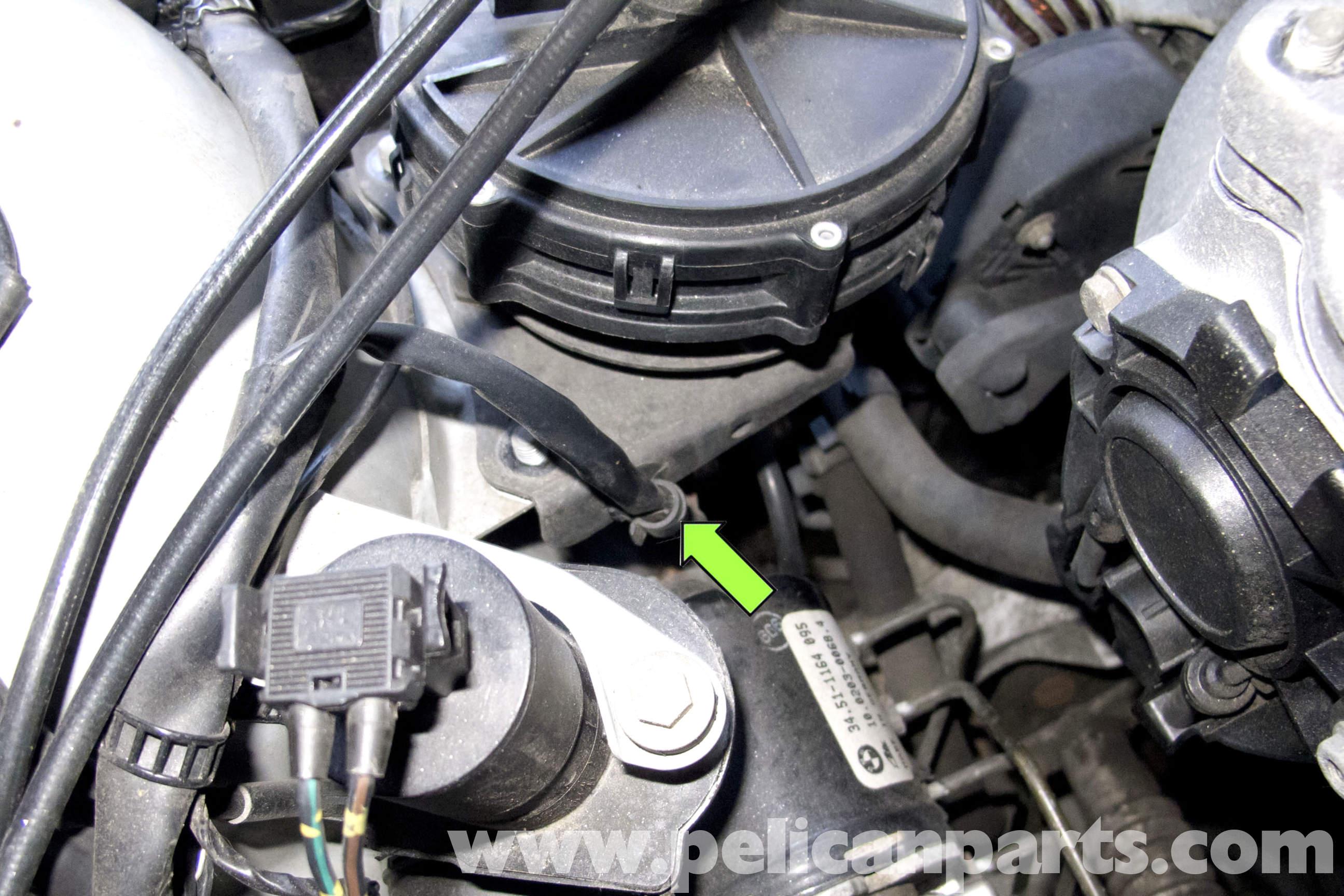 BMW Z3 Alternator Replacement   1996-2002   Pelican Parts DIY ... Bmw Z Alternator Wiring Harness on saab 900 wiring harness, mg midget wiring harness, mazda 3 wiring harness, mercedes e320 wiring harness, ford f100 wiring harness, suzuki samurai wiring harness, volvo 1800 wiring harness, ford contour wiring harness, bmw z3 radio harness, datsun 510 wiring harness, vw beetle wiring harness, bmw z3 radio wiring diagram, porsche 914 wiring harness, jeep cherokee wiring harness, mazda rx7 wiring harness, amc amx wiring harness, triumph tr8 wiring harness,