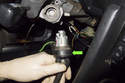 Once the lock cylinder has been released, pull it out of the steering column.