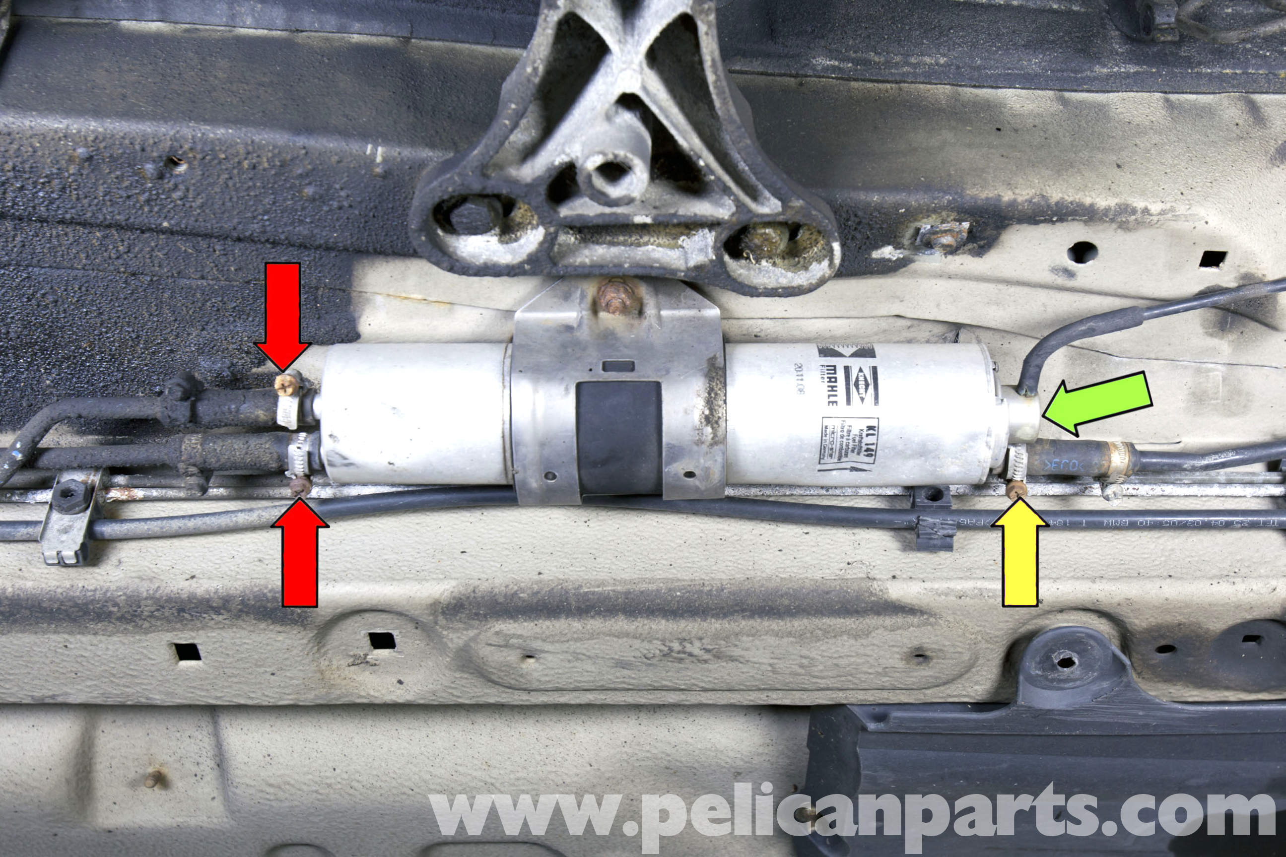 pic03 bmw z3 fuel filter replacement 1996 2002 pelican parts diy