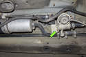 The running losses valve (green arrow) is located in front of fuel filter on early Z3 models.