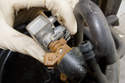 When reinstalling the fuel injectors into the fuel rail, be sure retaining clips are properly seated.