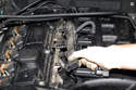 Work your way down injectors while disconnecting injector harness.
