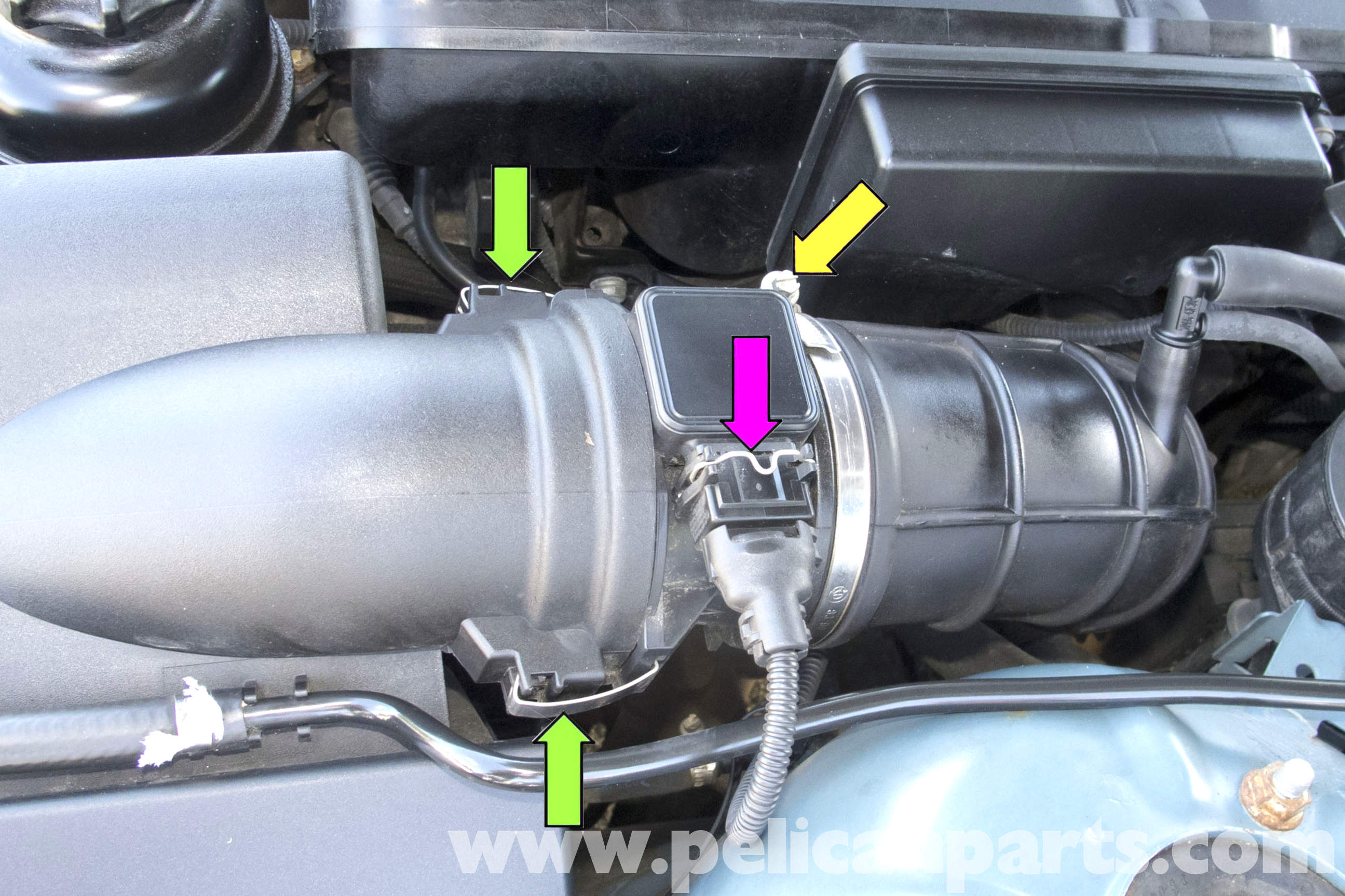 Bmw Z3 Mass Air Flow Maf Sensor Replacement 1996 2002