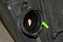 Install new mass airflow sensor into air filter housing.