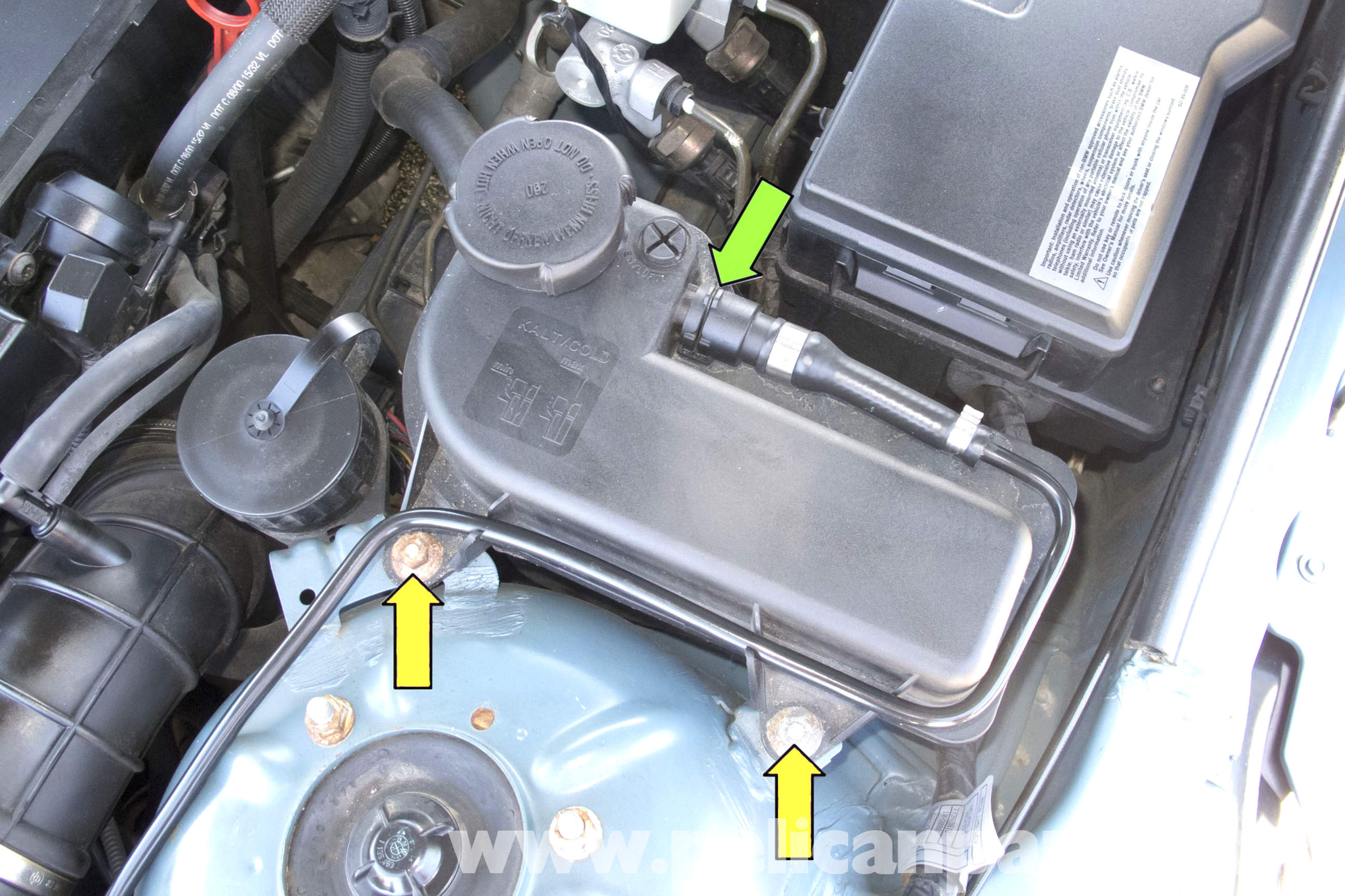 Bmw Z3 Coolant Expansion Tank Replacement Z3 1996 2001