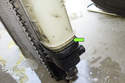 Once the O-ring (green arrow) has cleared the joint, you can remove the tank from the radiator.