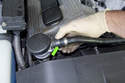 To make getting to the sensor easier, I like to remove the secondary air pipe at the front of the cylinder head.