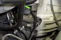 Next, using a 5mm Allen bit, remove crankshaft sensor mounting fastener.