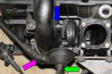 Install crankcase breather valve and tighten fasteners.