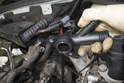 Lubricate the new O-ring with clean engine coolant or dish soap before attempting to install.