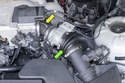 4-cylinder models have two intake air boots to worry about.