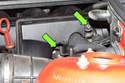 Working at intake resonance valve, remove two T40 Torx fasteners.