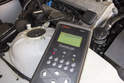 Follow directions supplied with scan tool to interrogate ECM fault memory.